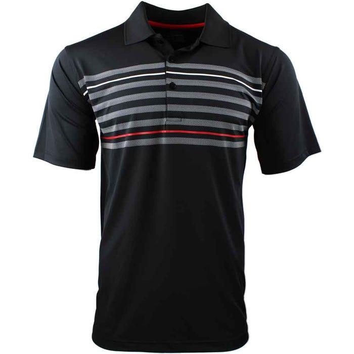 Texture Chest Stripe Polo