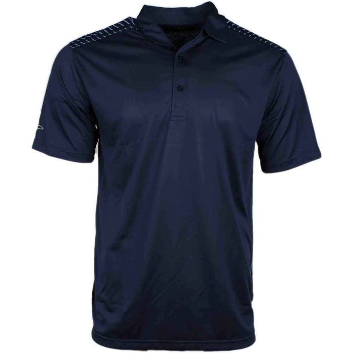 Chevron Back Line Print Polo