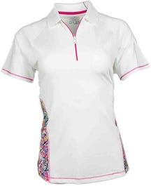 Coverstitch Print Polo