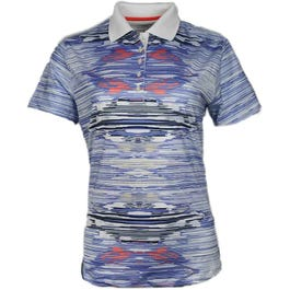 Allover Ikat Print Polo