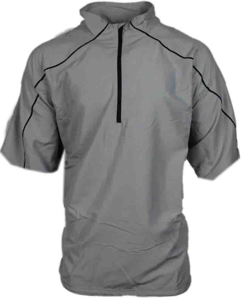 Page & Tuttle Free Swing Short Sleeve Peached Windshirt  - Grey - Mens