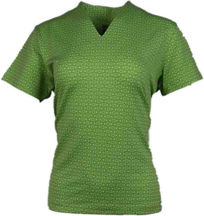 Dot Print V-Neck Polo