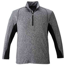 Heather Colorblock Quarter Zip Pullover