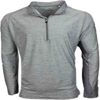 Page & Tuttle Heather Colorblock Quarter Zip Pullover