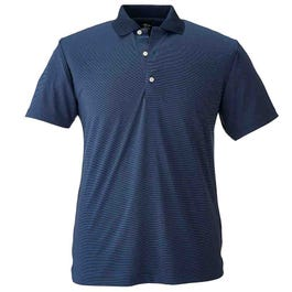 Two-Tone Stripe Jersey Solid Polo
