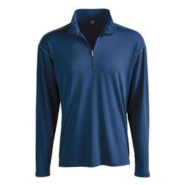Contrast Stitch Quarter Zip Layering Pullover