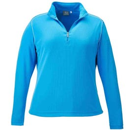 Long Sleeve Contrast Stitch Quarter Zip Pullover