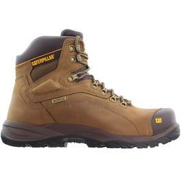 1a63ec0b335 CAT Footwear Salvo 8in Waterproof Steel Toe Brown Work/Duty Shoes ...