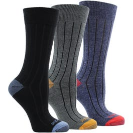 Rockport Ribbed Crew Socks 3 Pack