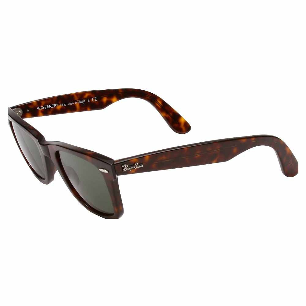Original Wayfarer 50mm (Medium) - Brown - Mens These iconic Ray-Ban Original Wayfarer sunglasses for men or women add cool retro style to any look. These unisex sunglasses feature lightweight plastic frames with 50mm G-15XLT lenses for 100% UV protection and classic style.