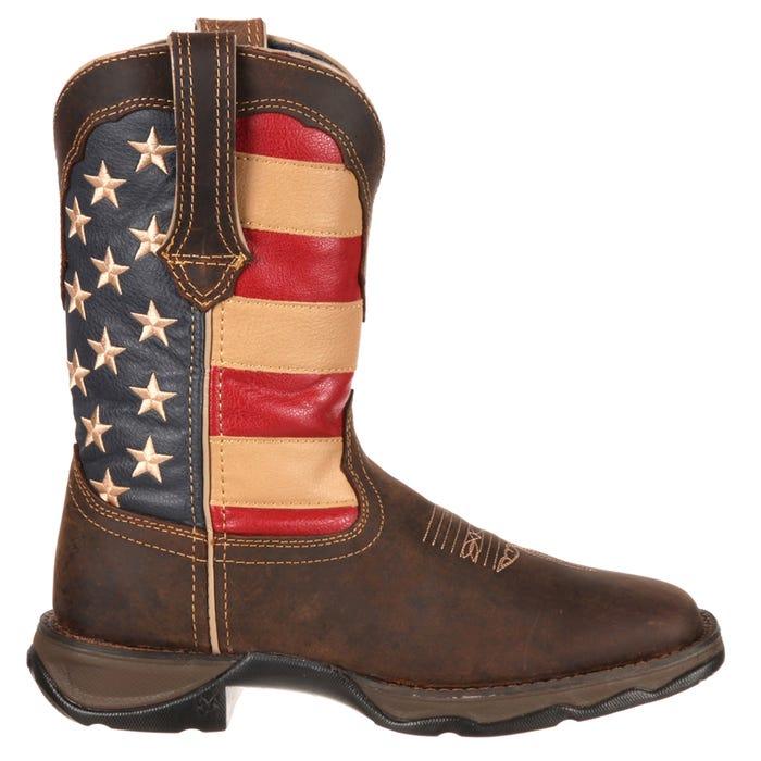 c51c39487fd 10in Lady Rebel Patriotic Flag Boot