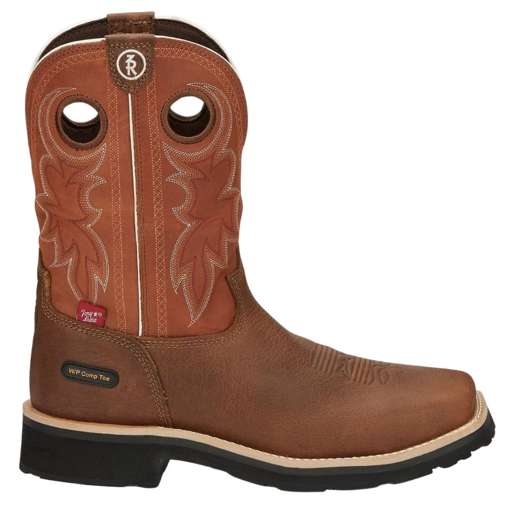 Tony Lama Men/'s~ Midland Rust Sq.Toe H20 Proof Comp Toe Work Boots RR3300 $170