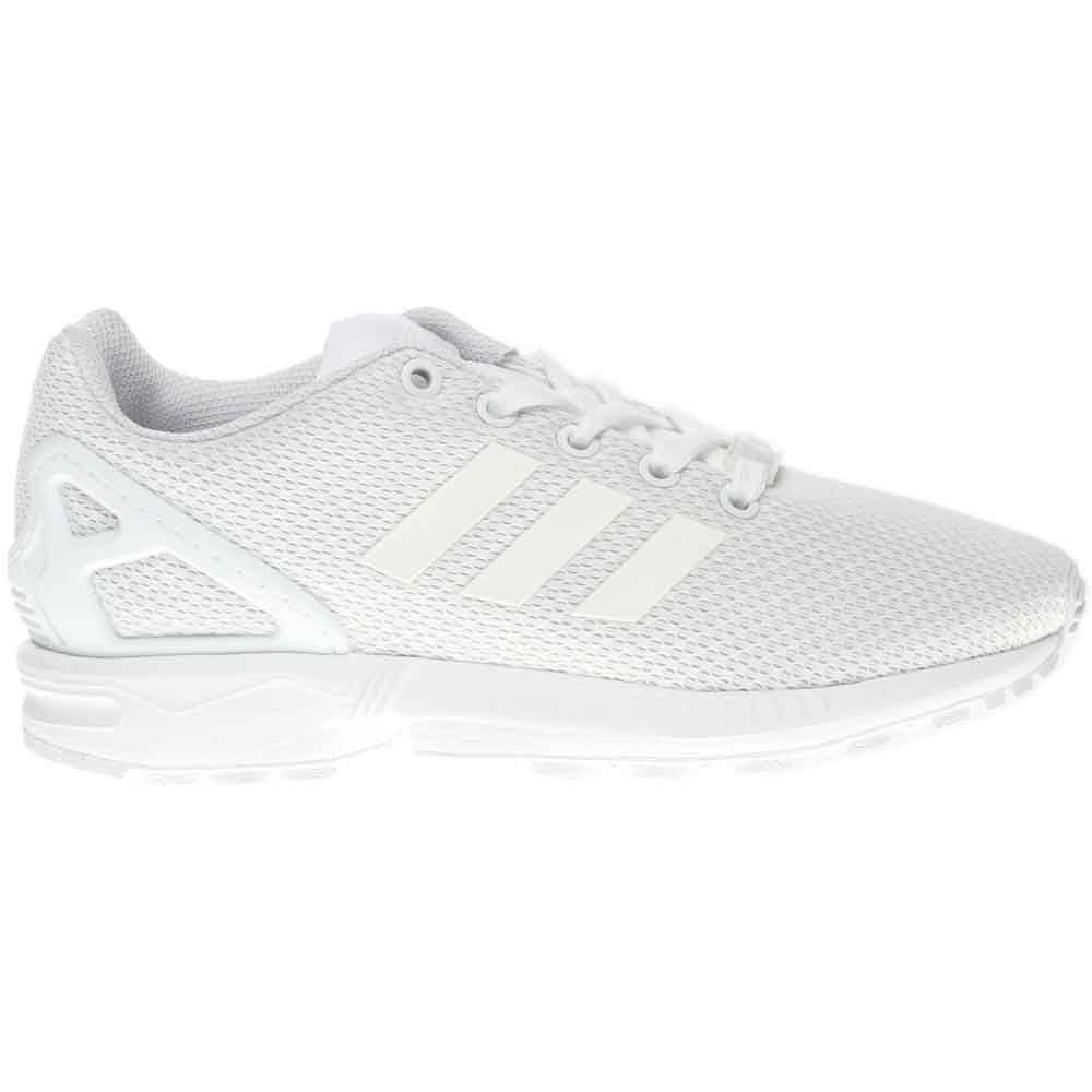 huge discount release date: closer at Details about adidas ZX Flux Casual Running Sneakers - White - Kids