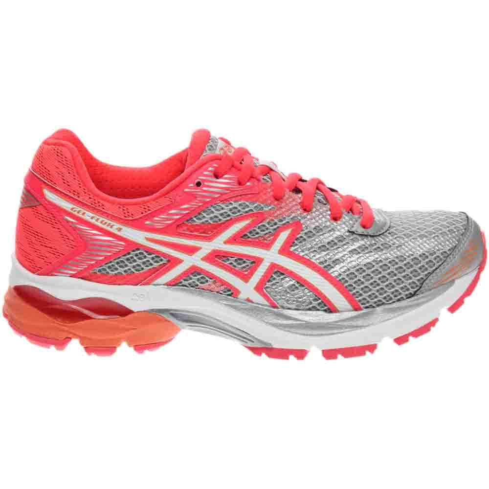 ASICS GEL Flux 4 Grey, Pink Womens Lace Up Athletic
