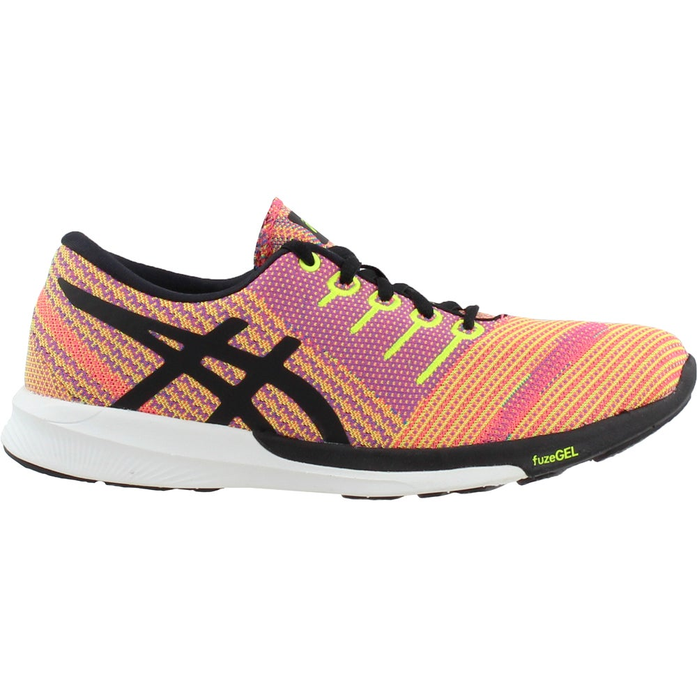 Details about ASICS Fuzex Knit Casual Running Neutral Shoes Orange Womens