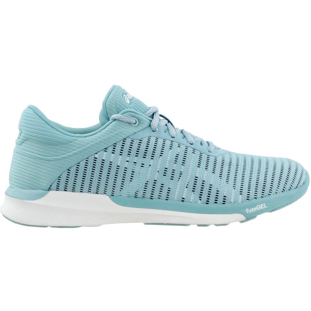 Details about ASICS Fuzex Rush Adapt Athletic Running Neutral Shoes Blue Womens
