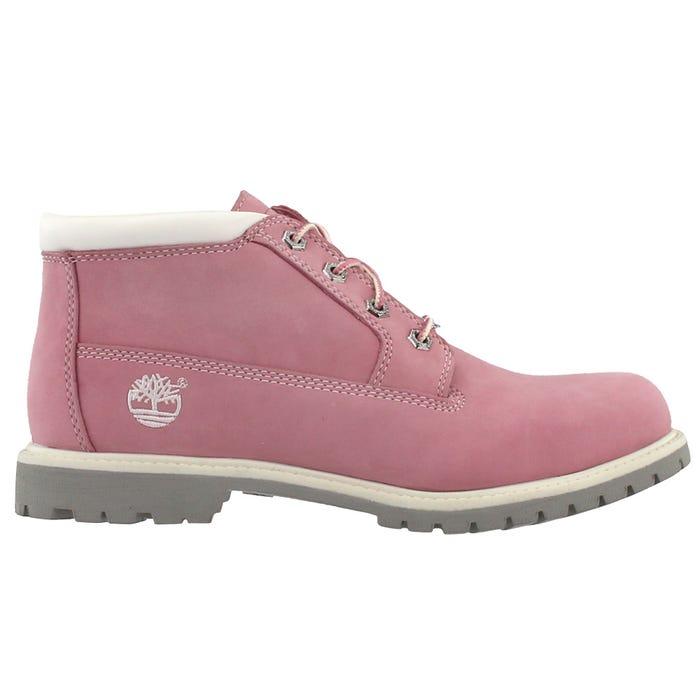 estilos de moda material seleccionado Tienda online Timberland Nellie Waterproof Chukka Boots Pink Womens Lace Up Boots