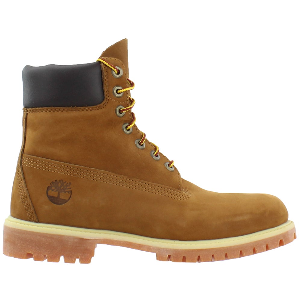 Timberland 6 Inch Premium Waterproof Boots Yellow Mens Lace