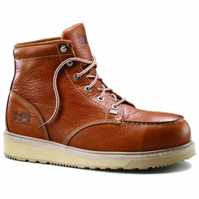 945e517b8dc Timberland Pro 6in Barstow Wedge Moc Alloy Toe Brown Work Boots and get  free shipping on orders more than $75