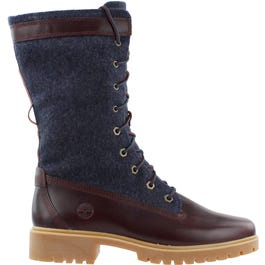 Jayne Mixed-Media Gaiter Boot