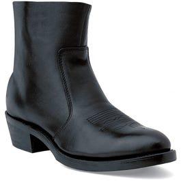 Black Side Zip Western Boot