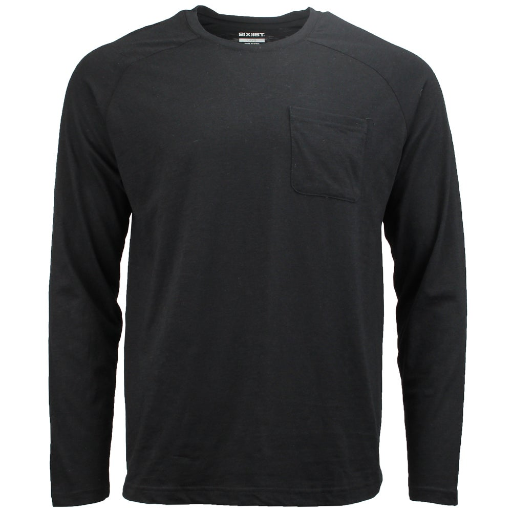 Image of 2(X)IST Activewear Baseball Pocket Crew - Black - Mens