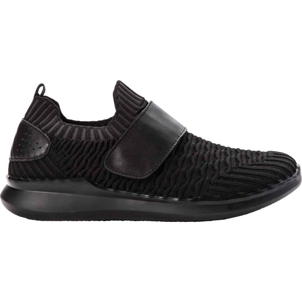 Propet Travelbound Strap  Casual Walking  Shoes - Black - Wo