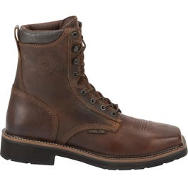 Justin Original Work Rugged Tan Steel Toe
