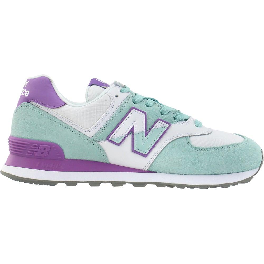 New Balance 574 Split Sail Lace Up Sneakers Green, Purple Womens ...