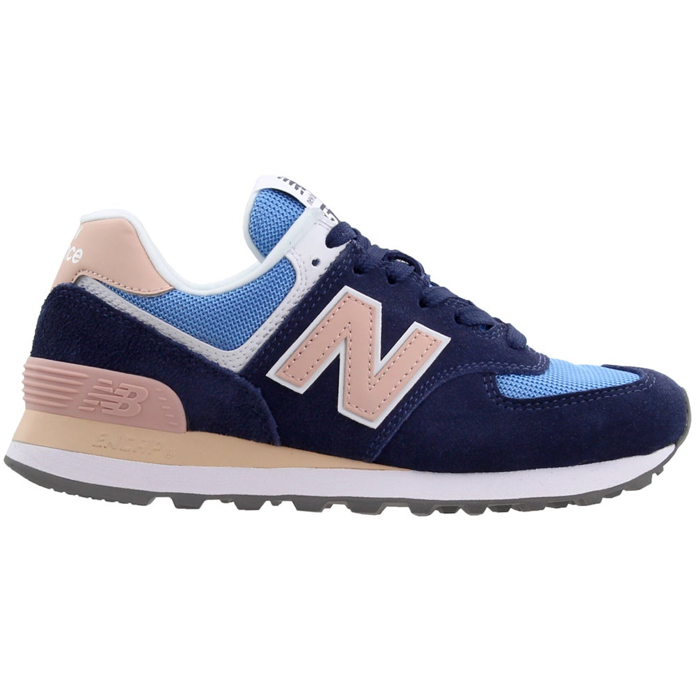 New Balance 574 Blue Womens Lace Up Sneakers