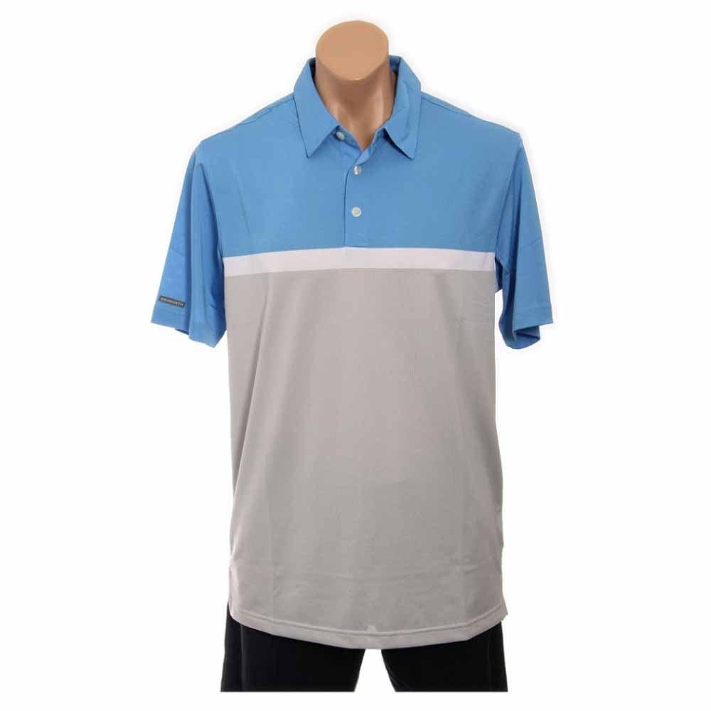 Image of Ashworth Performance Blocked Golf Shirt Blue - Mens - Size