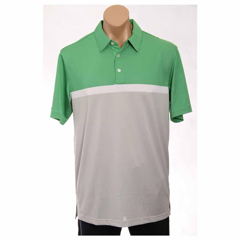 Image of Ashworth Performance Blocked Golf Shirt Green - Mens - Size