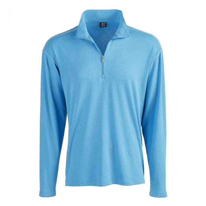Page Tuttle L S Contrast Stitch Quarter Zip Apparel
