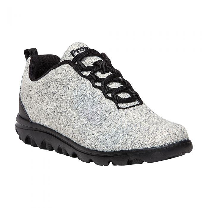 Propet TravelActiv Woven Sneaker - Women's Size 6.5 N Winter White