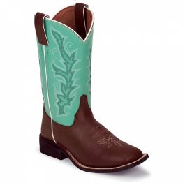 Justin Boots Chocolate Burnished (Toddler / Youth)