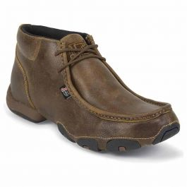 Justin Boots Tan Distressed Leather