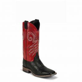 Justin Boots Black Wildebeest