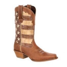 Crush by Durango Women's Distressed Flag Boot