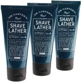 Dr. Carvers Pillowy Shave Lather 2.25 oz 3PK