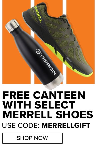 FREE MERRELL CANTEEN WITH SELECT SHOES USE CODE: MERRELGIFT
