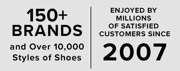 138 Brands and over 10,000 Styles of Shoes